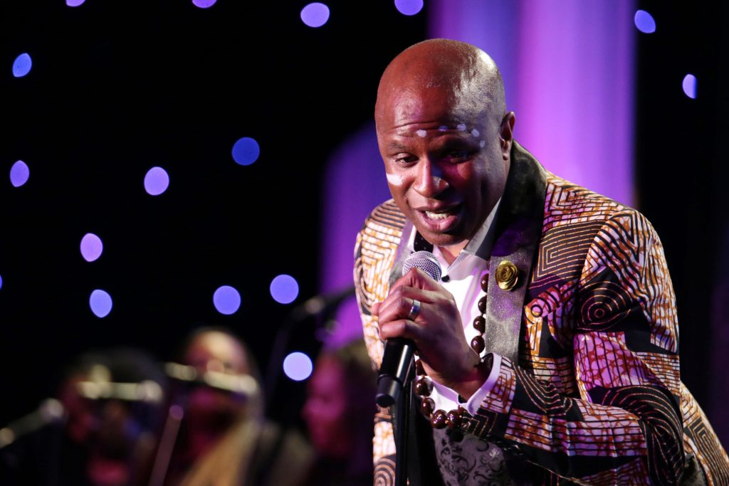 Alex Boye performs at the 2019 Erasing the Stigma Leadership Awards at the Beverly Hilton Hotel on Thursday, April 25, in Beverly Hills, Calif. (Photo by Blair Raughley/Invision for Didi Hirsch Mental Health Services/AP Images)